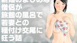 同人CGレビュー【巨乳/おっぱい】[いろまん]「新婚のまじめな僧侶が旅館の風呂で若妻との種付け交尾に狂う話」